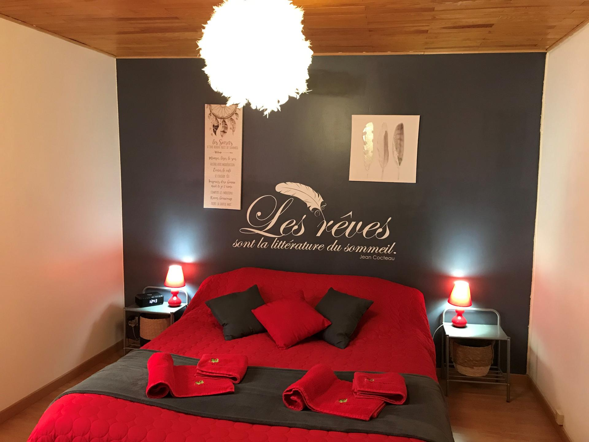 Couchage chambre reves ris